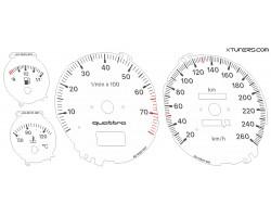 Audi 80 B4, 90 2.3 quattro NS4 dials