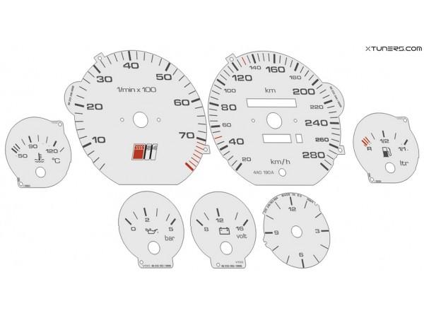 Audi 100 C4 type 4A S4, A6 S6 dials