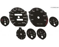 Audi V8 Typ 4C D11 dials