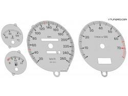 Audi 80 B4 ( 8C ) 2.3 | 2.6 Quattro, Cabrio VDO dials