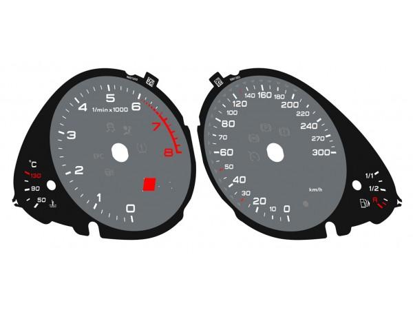Audi A5 8L S5, A4 B8 8K S4 dials