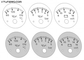 Audi 80 B4, 90 S2, RS2 VDO instruments dials - old model