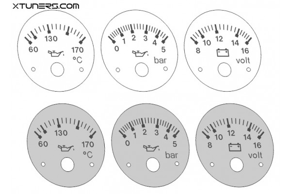 Audi 80 B4, 90 S2, RS2 VDO instruments dials - old model