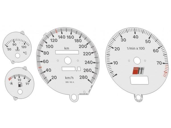 Audi 80 B4, 90 S2, RS2 dials