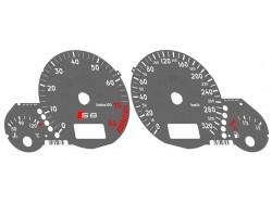 Audi A8 S8 D2 dials