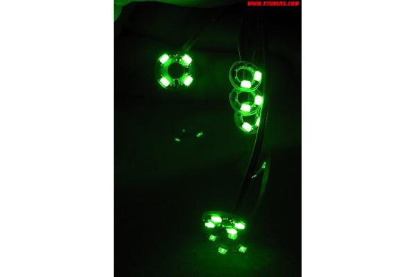 Gauge needles SMD LED illumination