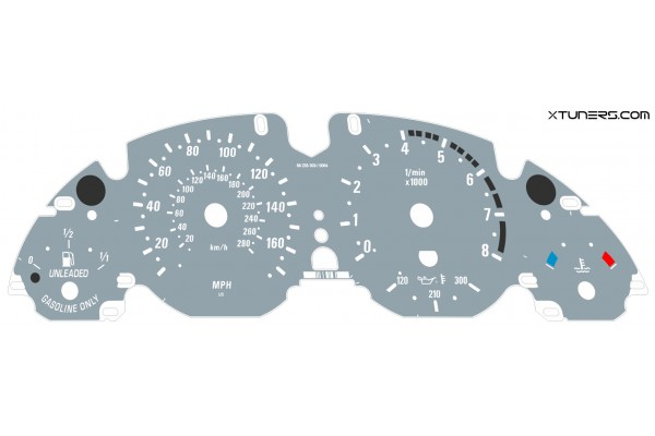 BMW X5 E53 4.6 IS, 4.8 IS M dials