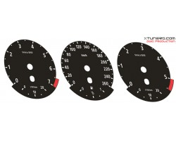 BMW 5-Series E60 E61, 6-Series E63 E64, X5 E70 M Power design dials