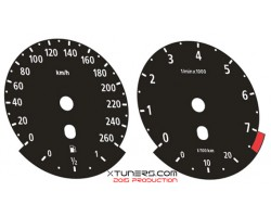 BMW 3-Series E90 325i M Power design dials