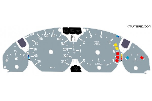 BMW 3-Series E46 M Power design dials