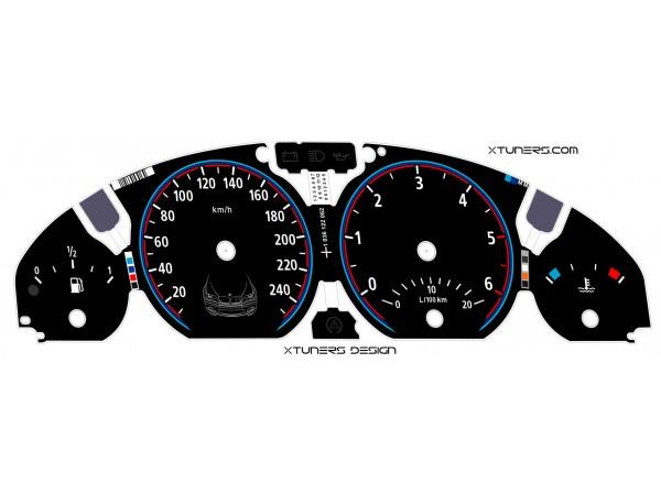 BMW 3-Series E46 M Power design dials
