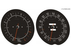 Chevrolet Corvette C3 Stingray dials