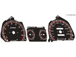 Honda CR-X 2nd gen 88-91 dials