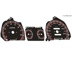 Honda CR-X 2nd gen 88-91 dials