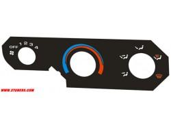 Honda HR-V heater panel dials