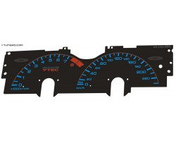 Honda Prelude 4th gen BB1-2-3-4 dials for the EL gauge cluster