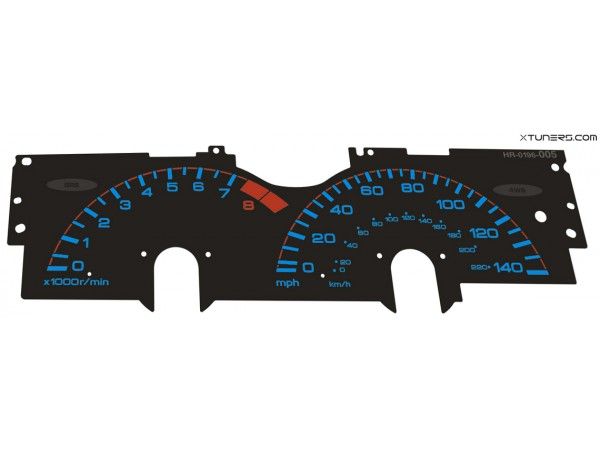 Honda Prelude 4th gen BB1-2-3-4 dials for the EL gauge cluster