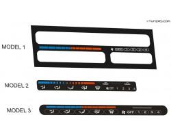 Mazda heater panel dials