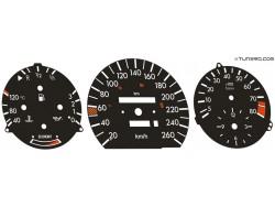 Mercedes E-Class W124, 190 W201 dials
