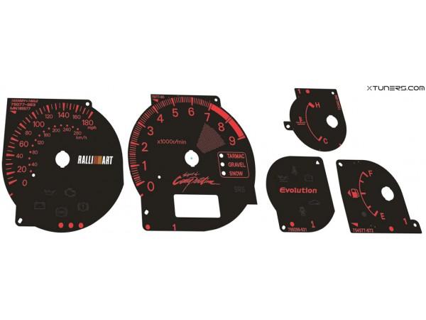 Mitsubishi Lancer EVOLUTION 7 8 9 CT9A UK Ralliart dials + LED upgrade kit