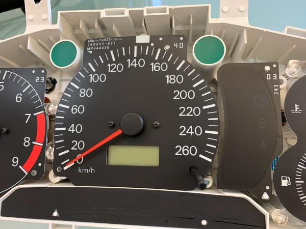 Mitsubishi Lancer EVOLUTION 4 CN9A, 5-6 CP9A RS2 dials