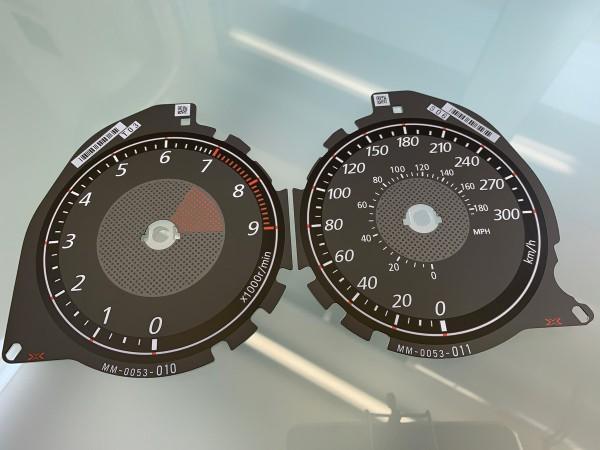 Mitsubishi Lancer EVO X dials
