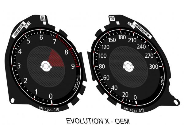 Mitsubishi Lancer EVOLUTION X 08-16 GSR, MR, SE, RS, Ralliart dials