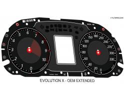 Mitsubishi Lancer EVOLUTION X 08-16 GSR, MR, SE, RS, Ralliart CZ4A dials