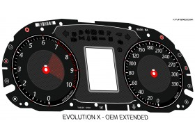 Mitsubishi Lancer EVOLUTION X 08-16 GSR, MR, SE, RS, Ralliart CZ4A dials