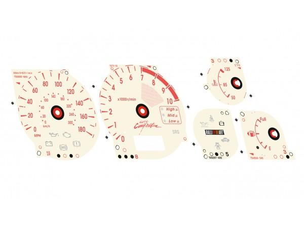 Mitsubishi Lancer EVOLUTION 7 8 9 CT9A Ralliart S3 design dials + LED upgrade kit