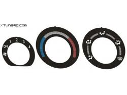 Mitsubishi Lancer EVOLUTION 7 8 9 heater control panel dials
