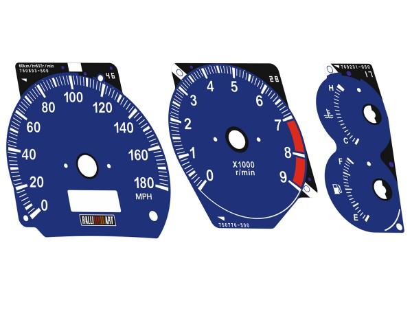 Mitsubishi Lancer EVOLUTION 4 CN9A, 5-6 CP9A BLUE dials