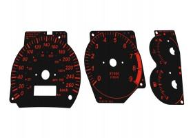 Mitsubishi Lancer EVOLUTION 4 CN9A, 5-6 CP9A VI Tommi Makinen Edition TME dials