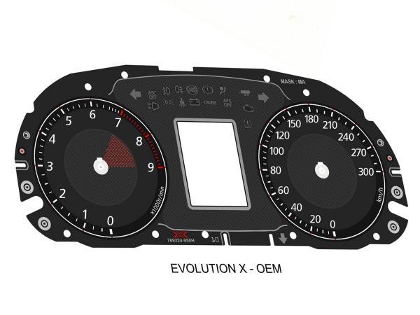 Mitsubishi Lancer EVO X 2008-2010 CZ4A dials