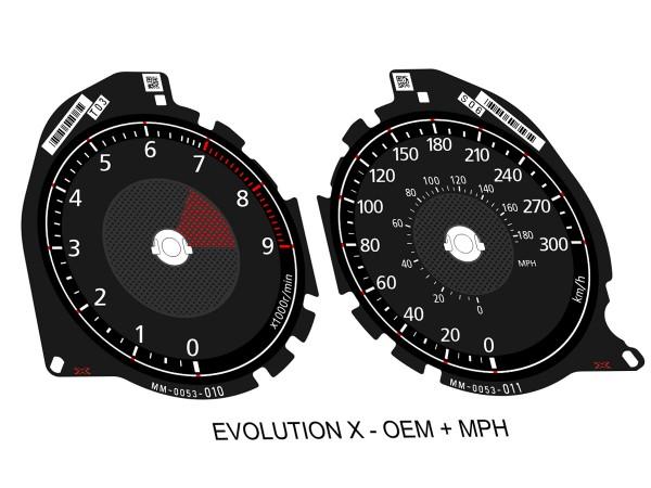 Mitsubishi Lancer EVO X CZ4A 2011+ dials