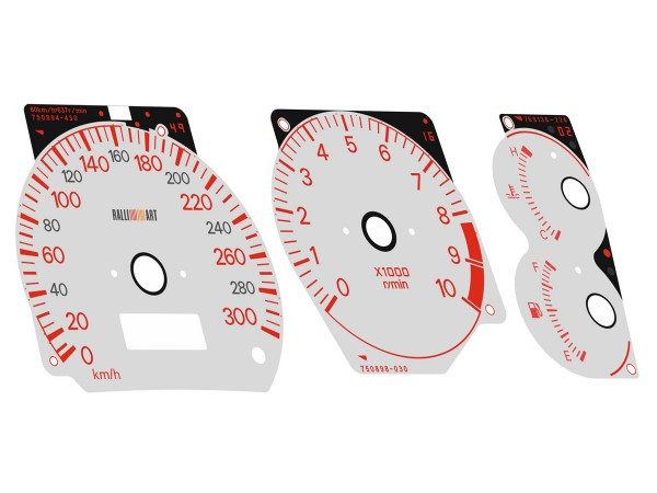 Mitsubishi Colt, Mirage Asti Cyborg CJ4A 300 km/h Ralliart dials