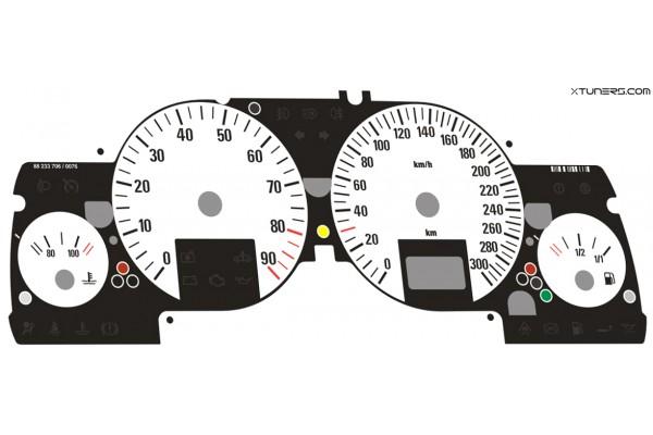 Opel | Vauxhall Astra G, Zafira A DTi, OPC, GSi, Coupe Turbo, Bertone Cabriolet dials  ( original white )
