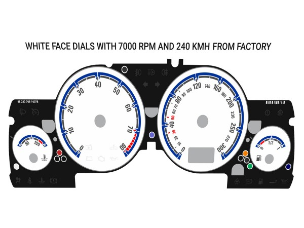 Opel | Vauxhall Astra G, Zafira A DTi, OPC, GSi, Coupe Turbo, Bertone Cabriolet dials  ( original white )