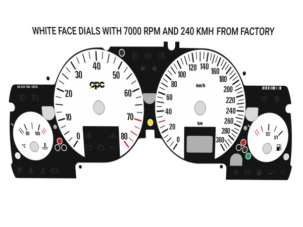 Opel   Vauxhall Astra G, Zafira A DTi, OPC, GSi, Coupe Turbo, Bertone Cabriolet dials  OPC 1 Design