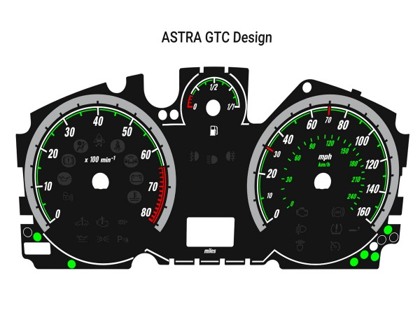 Opel | Vauxhall Astra H, Zafira B OPC, VXR + all other dials models