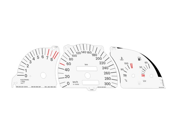 Opel   Vauxhall Calibra C20LET Turbo dials