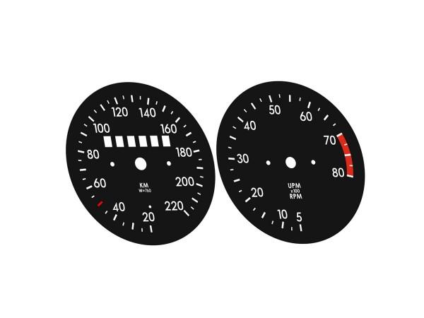 Opel Kadett C Coupe dials