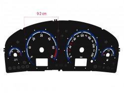 Opel   Vauxhall Vectra C, Signum pre-facelift OPC / VXR design dials