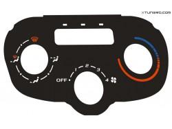 Peugeot 307 CC, HDI heater panel dials