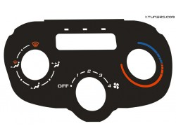 Peugeot 307 CC, HDI heater panel dials