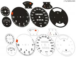 Porsche 924 dials
