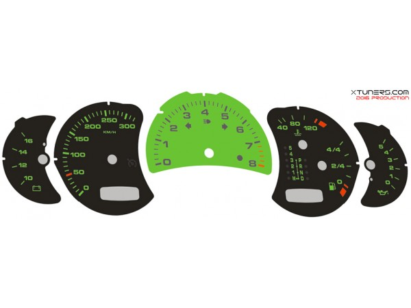 Porsche 911 (996) Carrera S-4S-Turbo-S-GT2-GT3-RS-X50-Cabriolet dials