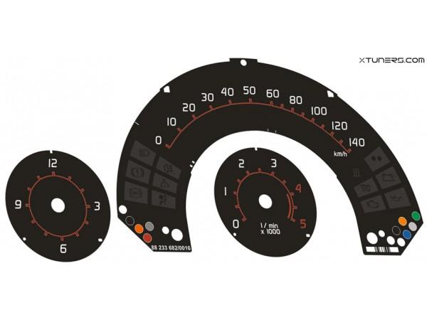 Smart Fortwo W450 Brabus dials