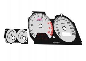 Subaru Impreza WRX STI GC8 10K, 280 km/h dials