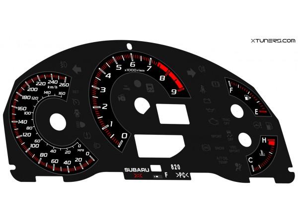 Subaru BR-Z STI dials